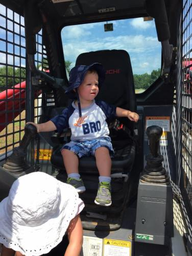 Ryker checking out the Bobcat